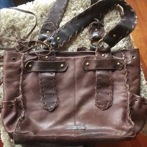 Vintage Bcbg leather brown bag